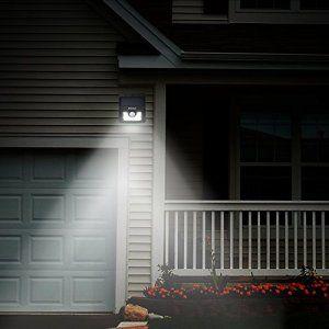 [4 PACK] Mpow Lampe Solaire LED Etanche Faro Lumiere 8 LED avec paneau solaire / Luminaire exterieur Sans Fil avec Détecteur de Mouvement/…