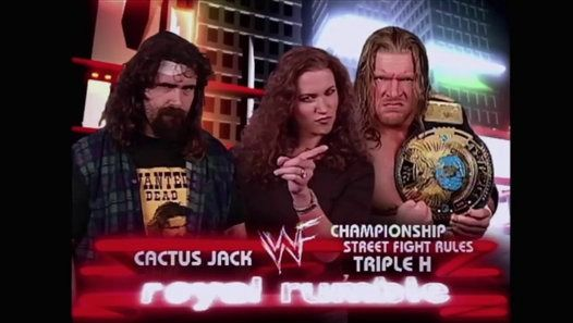 Cactus Jack Vs. WWF Champion Triple H in a Street Fight Rules Championship match at Royal Rumble 2000.  Subscribe and Like Twitter: https://twitter.com/Tonerock Youtube: https://www.youtube.com/channel/UCadtnHHsolREMn2cbjnicTQ