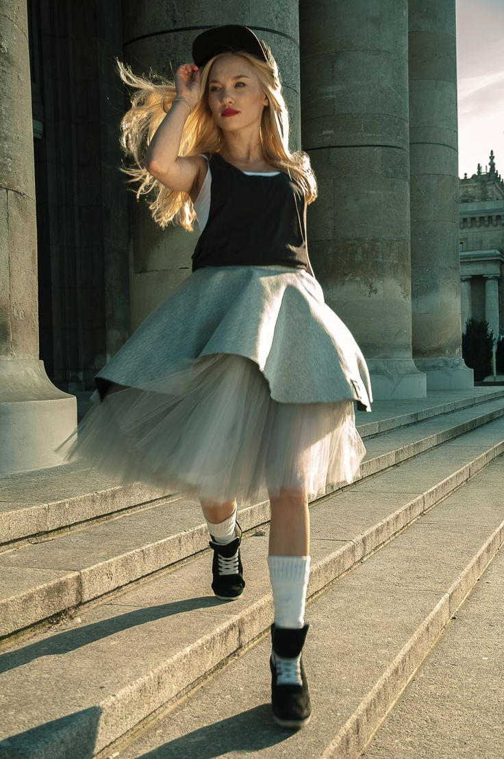 Just put it on Girls and hit the Town!  Neo Ruffled Skirt. The top layer, made of neoprene, rests on 10 meters of gray and white tulle. http://polishrascal.com/collections/for-her/products/neo-ruffled-skirt