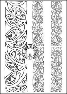 Kowhaiwhai Colouring Page 3