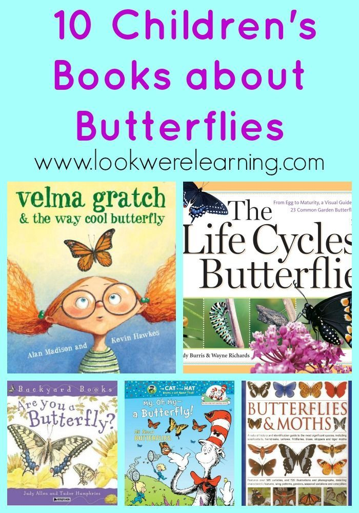 10 Children's Books about Butterflies from http://www.lookwerelearning.com