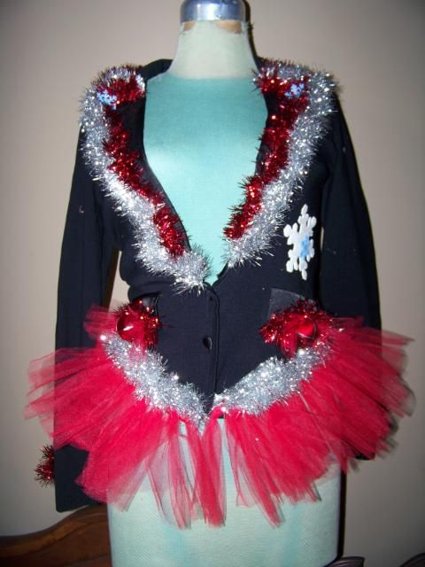 ugly Christmas sweater... @Mikaila Dawn Engelken you could rock this. =)