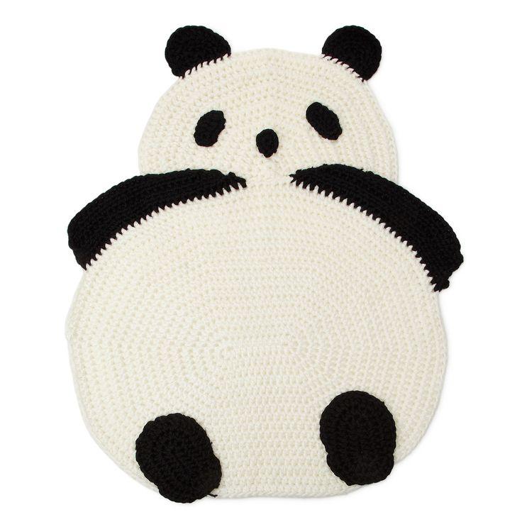 Crocheted Panda Rug..too cute!