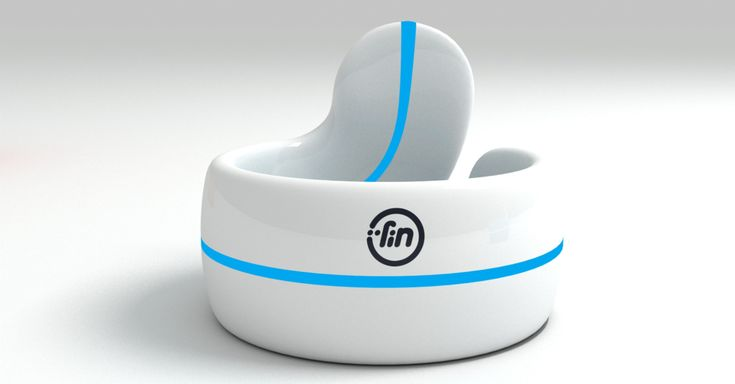 Fin is a wearable bluetooth transmitter that turns the surface of your palm and fingers into a touch interface.