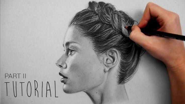 how to draw a braid hair