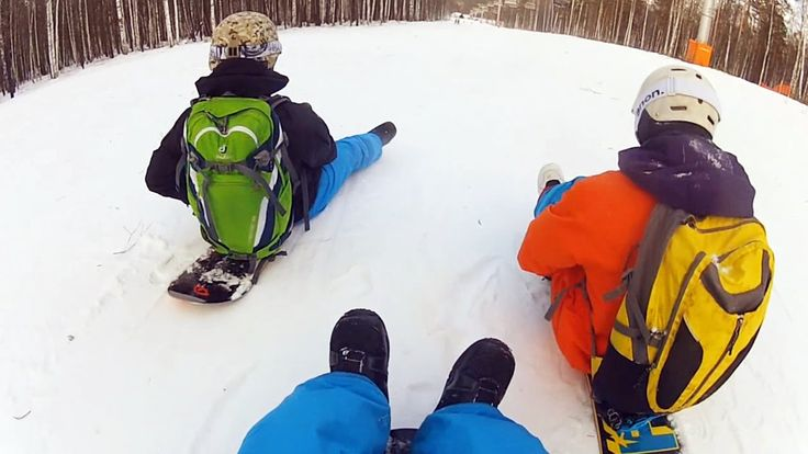 RUSSIAN CREATIVE SNOWBOARDING. SNOWBOARDING WITH FRIENDS