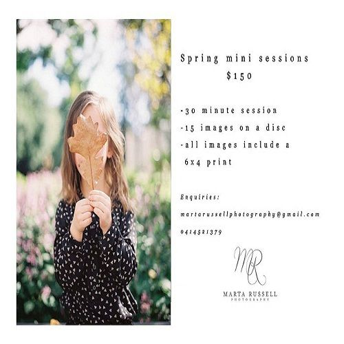 Spring Mini-Photography sessions See our website for more fantastic Exclusive Offers