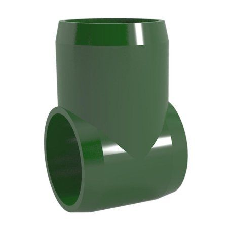 PVC Pipeworks 1-1/4 inch Slip Tee PVC Furniture Grade Fitting in Green - Hinge Joint (4-Pack)