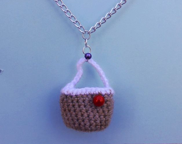 Charm Necklaces – Wicker bag shaped necklace – a unique product by DanyCream on DaWanda