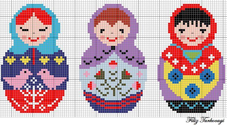 Malumunuz, sağdan sola doğru...Bebeklerin arasındaki boşluk beş karedir...