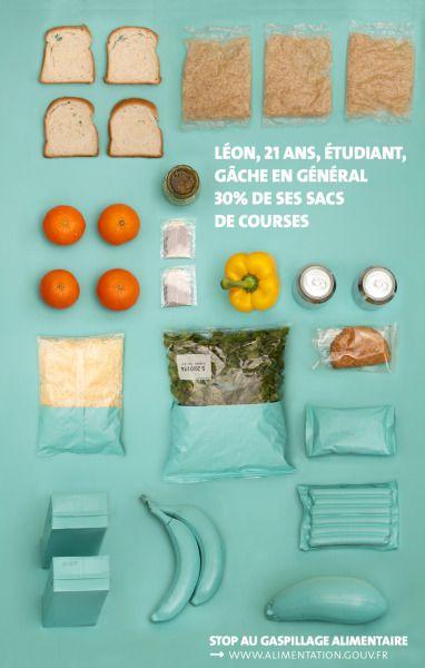 Conception d'unecampagne d'affiches contre le gaspillage alimentaire pour le concours duClub des Directeurs Artistiques. BTS design graphique 2ème année.