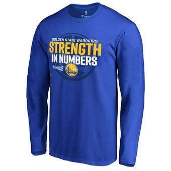 Men's Golden State Warriors Fanatics Branded Royal Participant Drive Long Sleeve T-Shirt