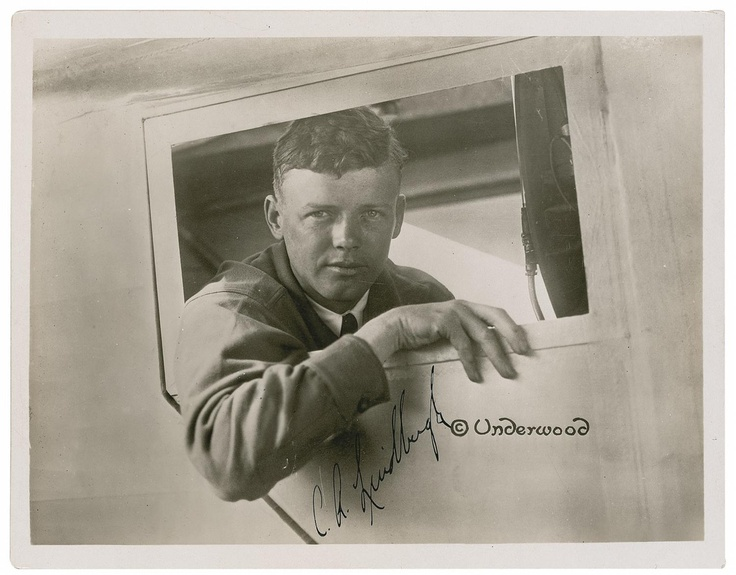 Picture Charles Lindbergh Famous Flight