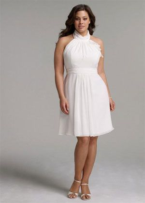 short wedding dresses plus size