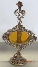 Vintage arany Tone Filigrán ferde üveg Díszes virág olasz parfümös üveg