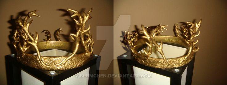 Crown of Lord Renly Baratheon from Game of Thrones by blumchen.deviantart.com on @DeviantArt