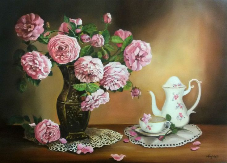Buy Breakfast, Oil painting by Anna Rita Angiolelli on Artfinder. Discover thousands of other original paintings, prints, sculptures and photography from independent artists.
