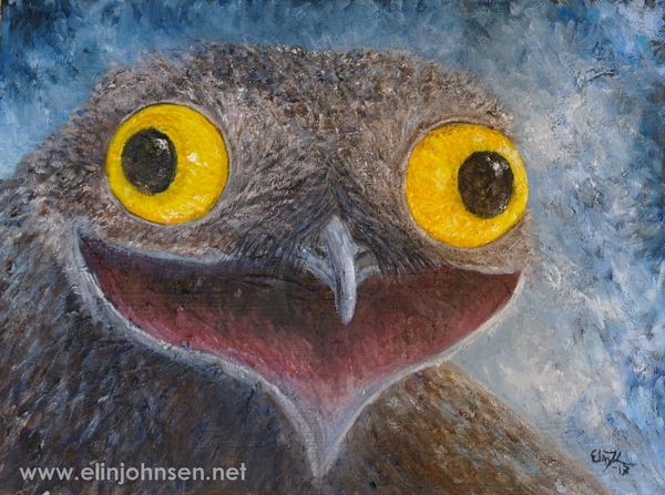 Common Potoo (Nyctibius griseus). Oil on canvas 2017. 30x40cm. #potoo #commonpotoo #wildlifeart