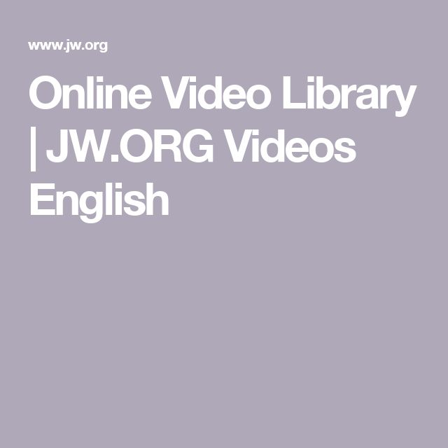 Online Video Library | JW.ORG Videos English