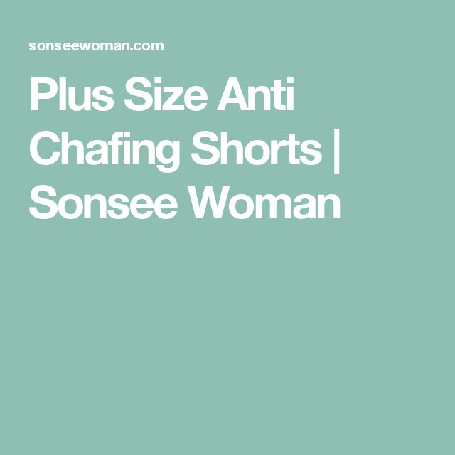 Plus Size Anti Chafing Shorts | Sonsee Woman