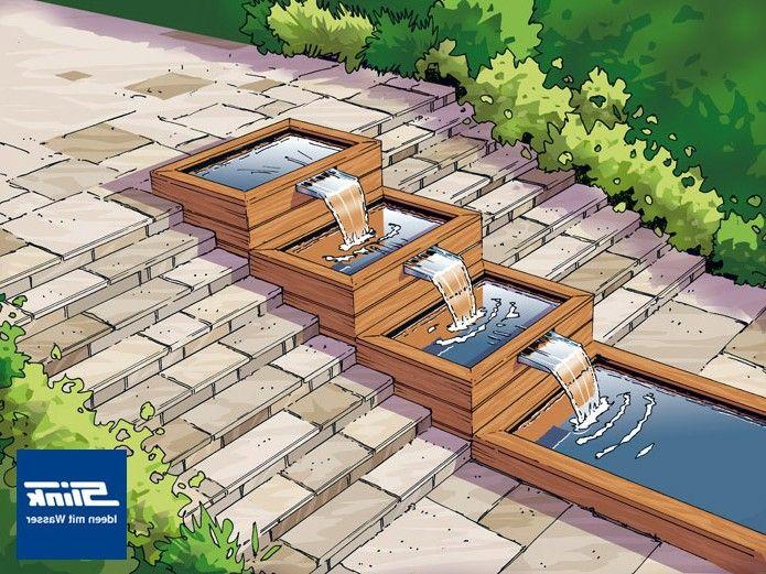 die besten 25+ wasserfall edelstahl ideen auf pinterest | wand, Garten und bauen