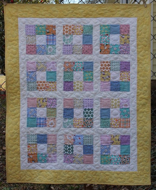 Small 9 Patch (29x36) quartering charm squares