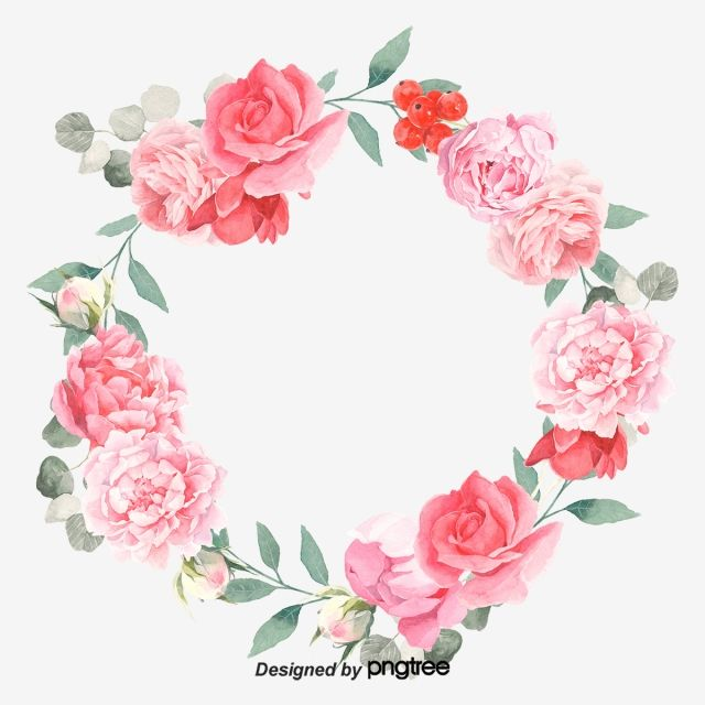 Soft Pale And Romantic Red Elements Wreath Painted Romantic Png Transparent Clipart Image And Psd File For Free Download Romantic Wedding Frame Wedding Ring Background Vintage Wedding Invitation Cards