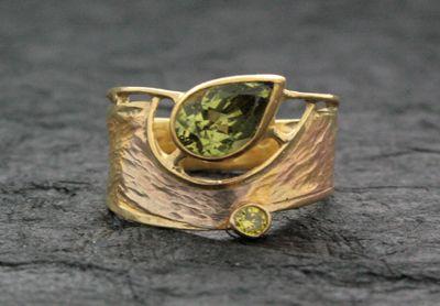 Chrysoberyl and Diamond Ring