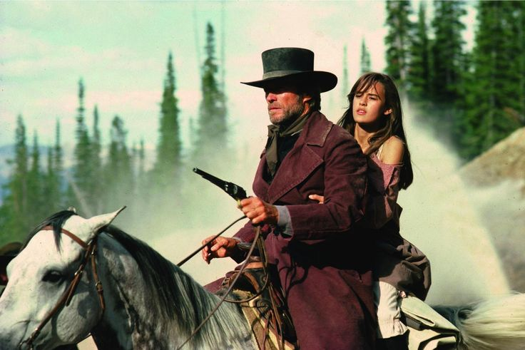 Still of Clint Eastwood and Sydney Penny in Pale Rider (1985) http://www.movpins.com/dHQwMDg5NzY3/pale-rider-(1985)/still-828289024