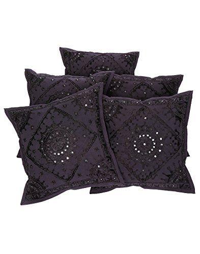 tnico-Cubre-Cojines-Sof-Negro-floral-para-la-decoracin