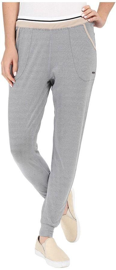 Zobha Slim Jogger Ankle Pants w/ Double Elastic Band and Stripe Elastic