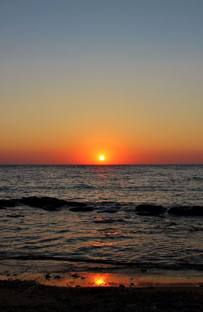 Coucher de soleil à Antiparos, Cyclades, Grèce