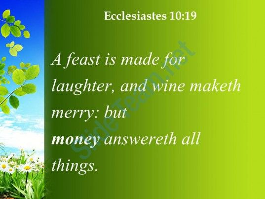 ecclesiastes 10 19 money is the answer for everything powerpoint church sermon Slide05  http://www.slideteam.net/