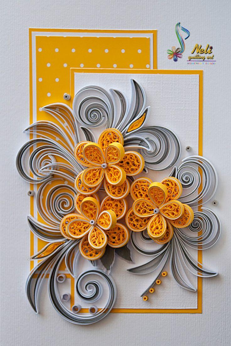 neli: Quilling card (14.8 cm - 10.5 cm )