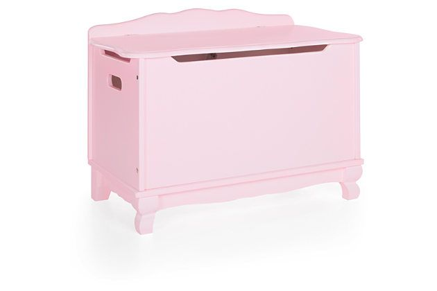 Guidecraft Classic Toy Box - Pink by Ashley HomeStore, Pink