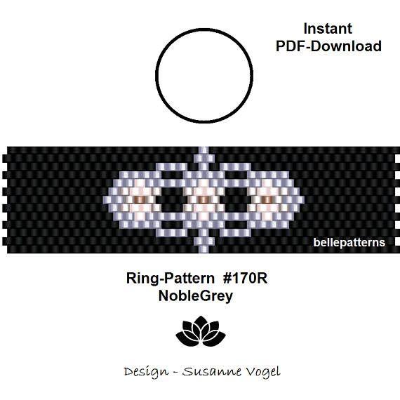 peyote ring patternPDF-Download 170R NobleGrey beading