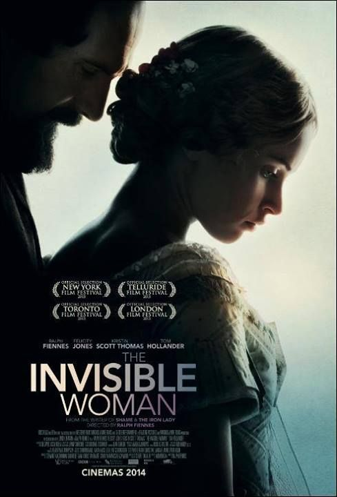 Invisible Woman (2013) story of Charles Dickens and his young mistress,  Nelly (Ellen) Ternan starring Ralph Fiennes and Felicity Jones.  Costumes by Oscar winner for The Dutchess.