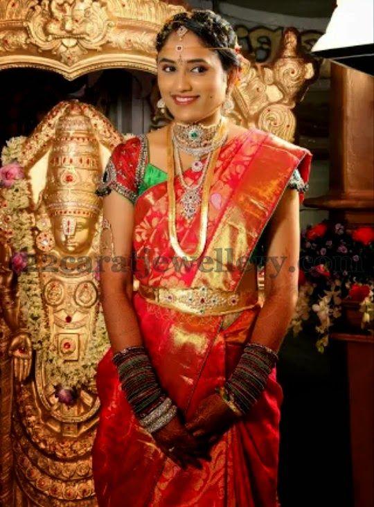 Jewellery Designs: Charming Lady in Wedding Jewellery