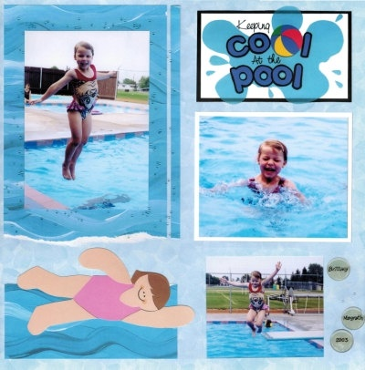 Swimming Scrapbook page idea | Crafts n Scrapbooking ...