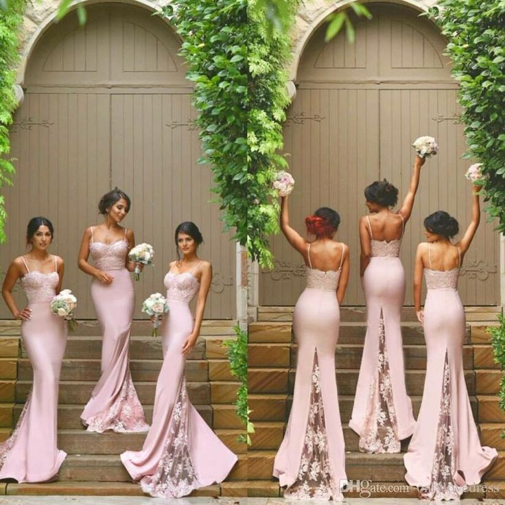 Blush Pink Wedding Guest Dresses 2016 Mermaid Spaghetti Straps Lace Trumpet Bridesmaid Gowns Elegant Cheap Online Bridesmaids Dress Bridesmaid Dress Sale Bridesmaid Dress With Sleeves From Onlylovedress, $67.71| Dhgate.Com