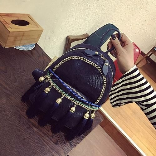 Tassel Chain Small Charming Girly Japanese Backpack. #Tassel #Chain #Small #Charming #Girly #Japanese #Backpack