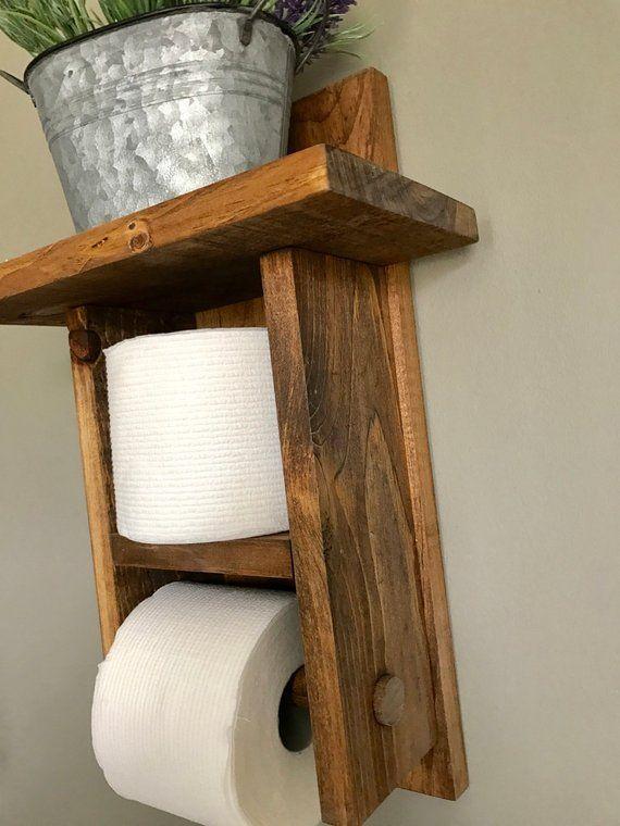 Toilet Paper holder, Bathroom Decor, Toilet Paper storage, Bath TP Holder, Toilet roll Holder, Rustic Bathroom, Toilet Paper Rack, Storage