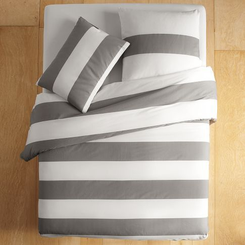 Duvet Set from West Elm $69. Simple and wonderful!-I just got this and paired it with some yellow throw pillows and accent pieces around the room.  I love our bedroom right now :)