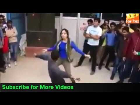 Superb Dance Competition Between Boy And Girl On Road