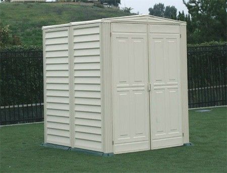 Duramax Yardmate 5x5 Vinyl Storage Shed Kit (Floor Included) #StorageShedsOutlet