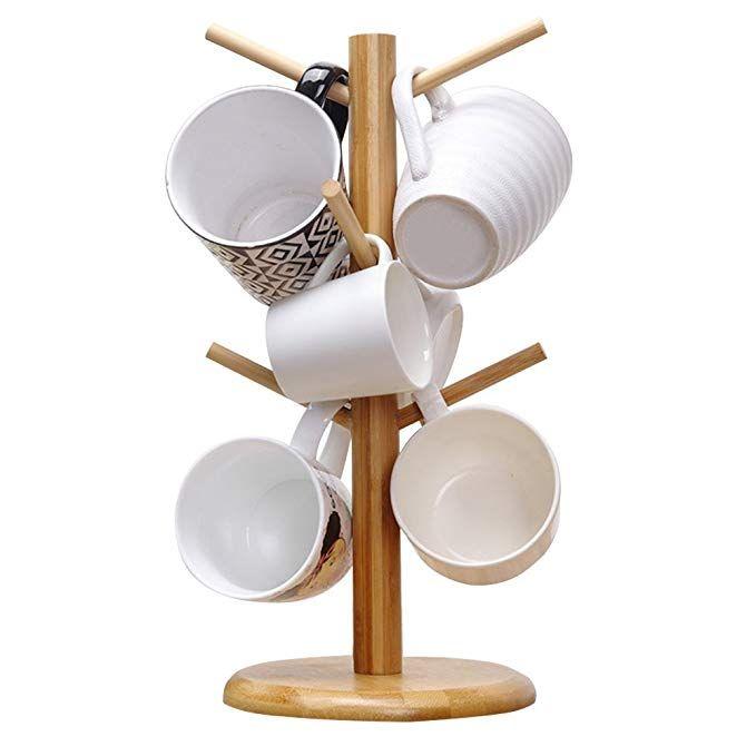 9 85 Amazon Com Mylifeunit Mug Holder Tree Gateway Mug Holder Wine Glass Holder Stemware Storage