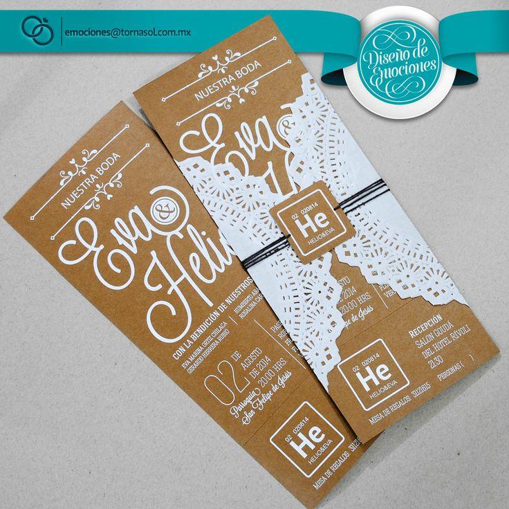 Sencilla y elegante invitaci n para boda invitaciones - Disenos tarjetas de boda ...
