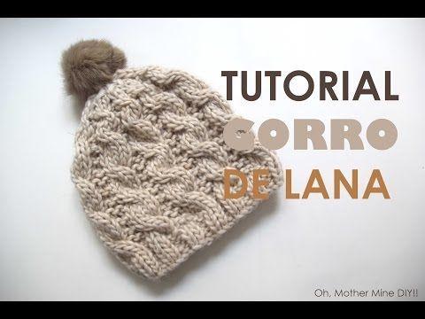 Tutorial de lana: Cómo hacer gorro trenzado (patrones gratis) | Manualidades