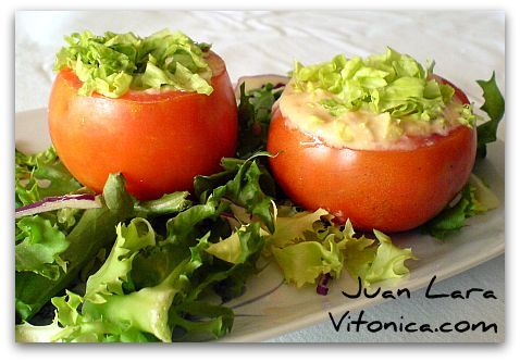 Tomates rellenos (RAW FOOD) / Platos Entrantes / HazteVeg.com