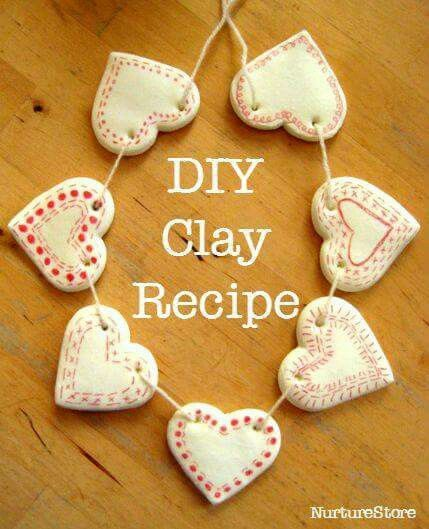 Heart clay bunting